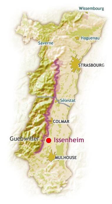 Carte touristique d'Alsace