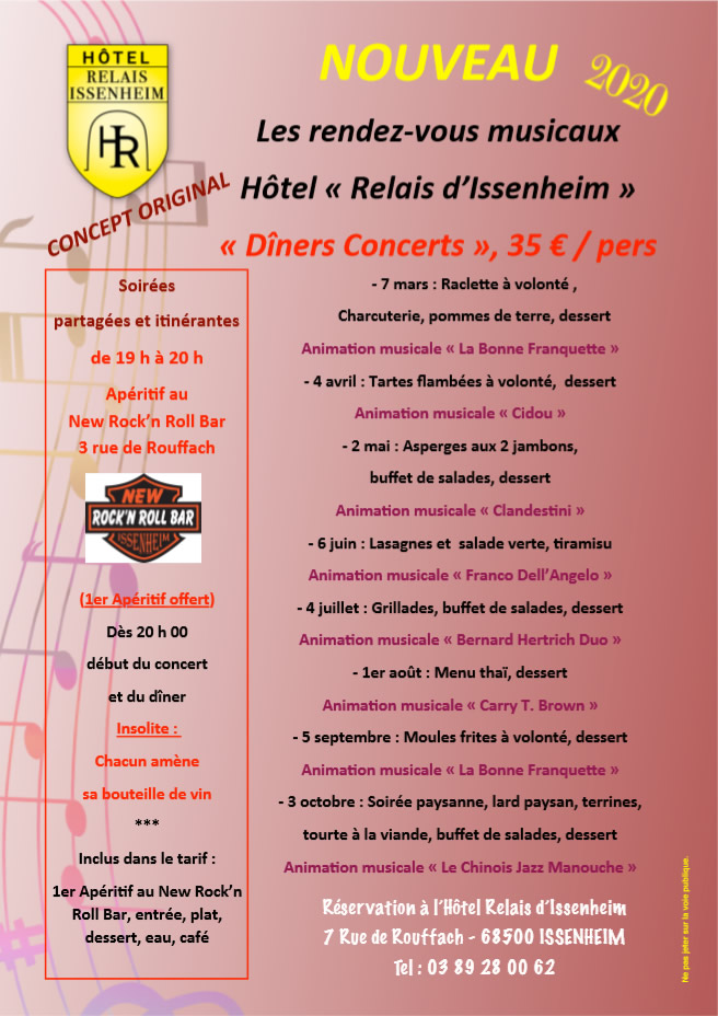 Programme musical 2020 - le relais d'Issenheim